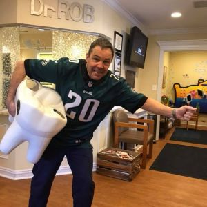 Dr. Rob In Eagles Shirt